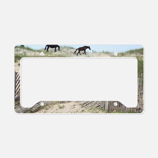 Equestrian art License Plate Holder