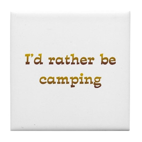 IRB Camping Tile Coaster