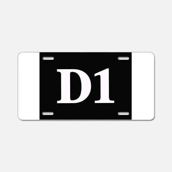 D1, first year dental stude Aluminum License Plate