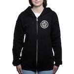 White Emblem Women's Zip Hoodie Sweatshirt