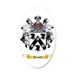 Jeacock Oval Car Magnet