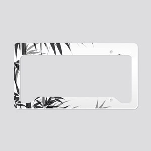 Asian Bamboo License Plate Holder