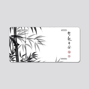 Asian Bamboo Aluminum License Plate