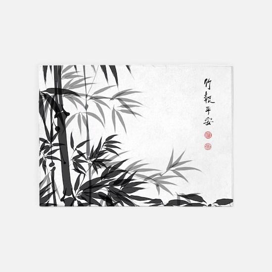Asian Bamboo 5'x7'Area Rug