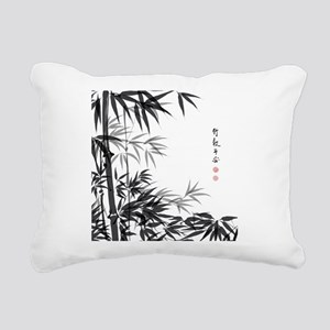 Asian Bamboo Rectangular Canvas Pillow