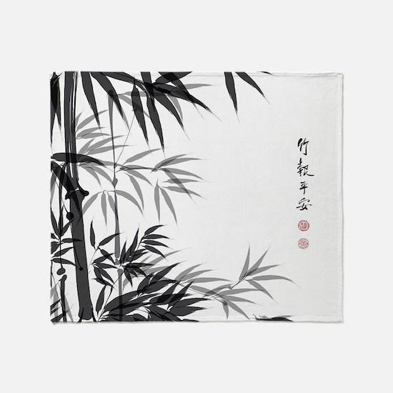 Asian Bamboo Throw Blanket