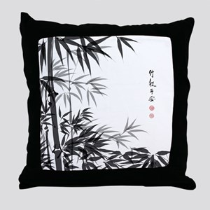 Asian Bamboo Throw Pillow