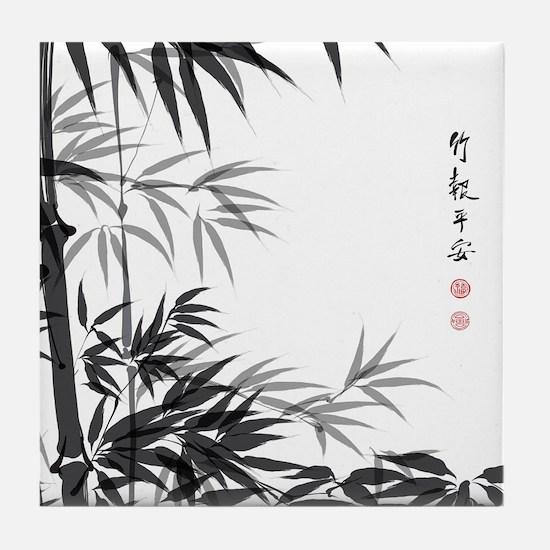 Asian Bamboo Tile Coaster