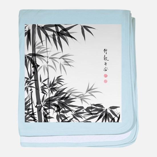 Asian Bamboo baby blanket