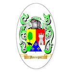 Jauregui Sticker (Oval)