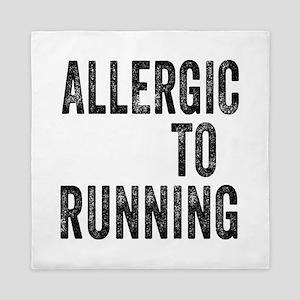 Allergic to Running Queen Duvet