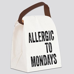 Allergic to Mondays Canvas Lunch Bag