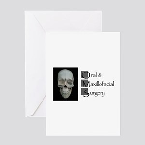 OMS surgical skull Greeting Cards