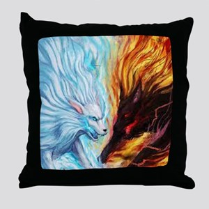 Inside if each of us are two wolves Throw Pillow