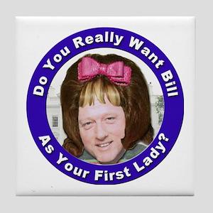 Stop the Clintons Tile Coaster