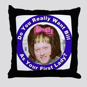 Stop the Clintons Throw Pillow