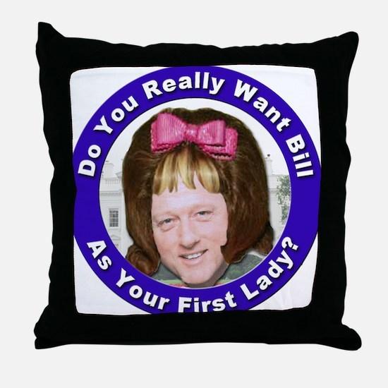 Stop the Clintons Throw Pillow