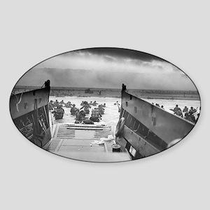 D-Day 6/6/1944 Sticker (Oval)