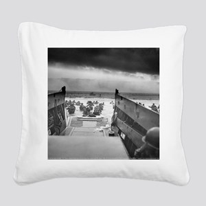 D-Day 6/6/1944 Square Canvas Pillow