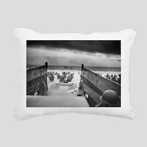 D-Day 6/6/1944 Rectangular Canvas Pillow