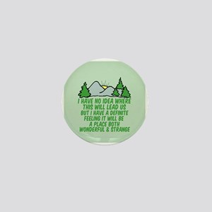 Twin Peaks Trees Mini Button