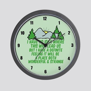 Twin Peaks Trees Wall Clock