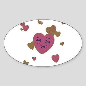 Cute Faces Valentine Sticker