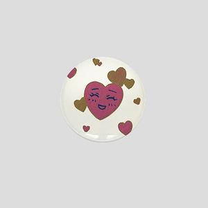 Cute Faces Valentine Mini Button