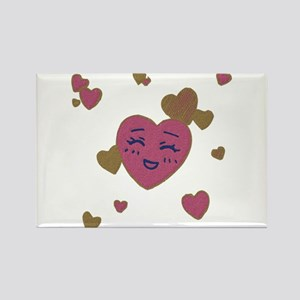 Cute Faces Valentine Magnets