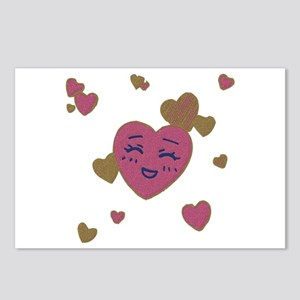 Cute Faces Valentine Postcards (Package of 8)