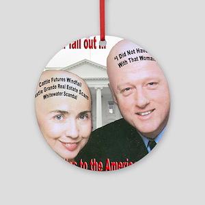 Anti-Hillary Clinton Ornament (Round)