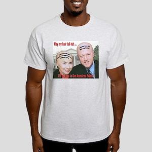 Anti-Hillary Clinton (Front) Light T-Shirt