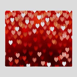1,2,3,4,5.....hearts Throw Blanket