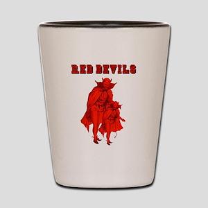 Red Devils Shot Glass