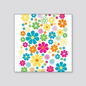 Colorful Daisy Flowers Sticker
