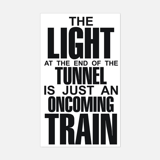 Light at the End of the Tunne Sticker (Rectangular