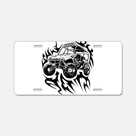Fired Up UTV Aluminum License Plate