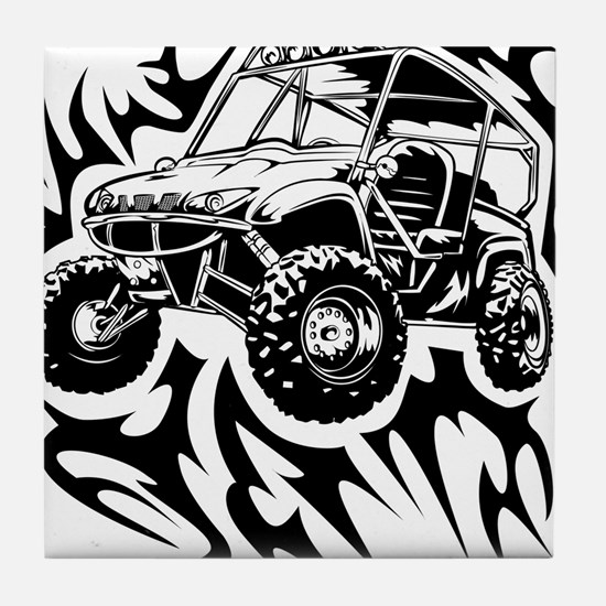 Fired Up UTV Tile Coaster