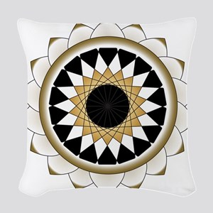 Mandala Lotus Design Woven Throw Pillow