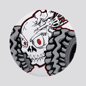 OffRoad Styles Skull Roller Ornament (Round)