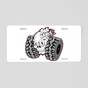 OffRoad Styles Skull Roller Aluminum License Plate