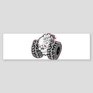 OffRoad Styles Skull Roller Bumper Sticker