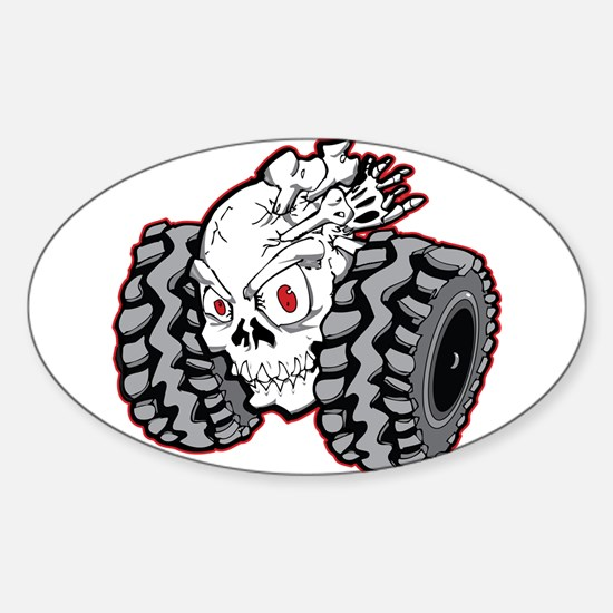 OffRoad Styles Skull Roller Bumper Stickers