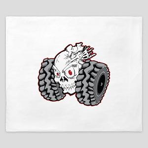 OffRoad Styles Skull Roller King Duvet
