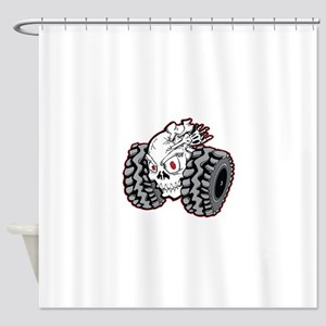 OffRoad Styles Skull Roller Shower Curtain
