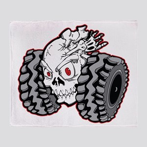 OffRoad Styles Skull Roller Throw Blanket