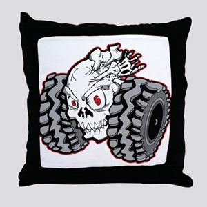 OffRoad Styles Skull Roller Throw Pillow