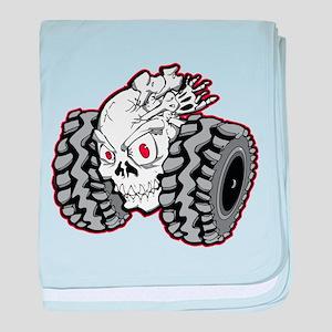 OffRoad Styles Skull Roller baby blanket