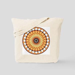 Gorgeous Lotus Mandal Orange Vibrant Desi Tote Bag