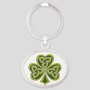 Celtic Trinity Oval Keychain
